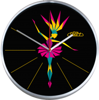 Kovové nástěnné hodiny Prim E04.2966 - BALLERINA.0267