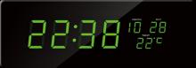 Digitální hodiny JVD zelená čísla DH2.1
