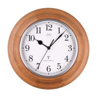 hodiny kulaté dřevěné