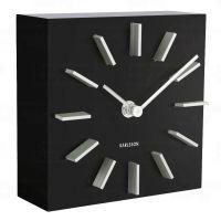 Designové stolní i nástěnné hodiny 5781BK Karlsson 15cm