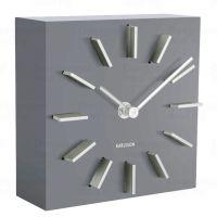 Designové stolní i nástěnné hodiny 5781GY Karlsson 15cm