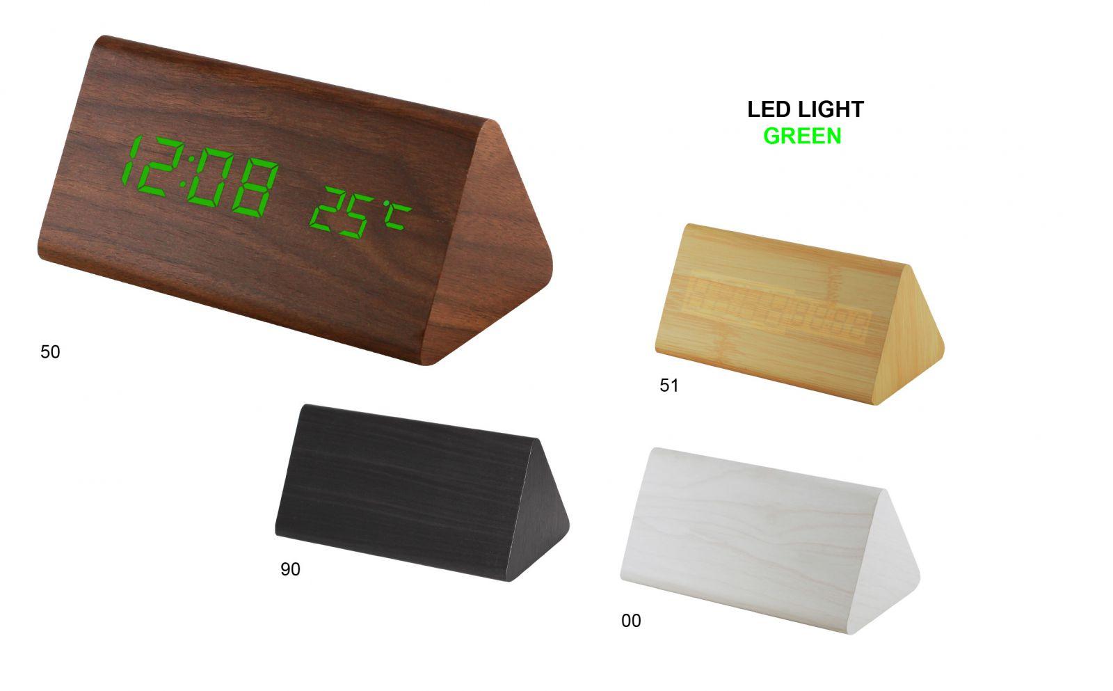 Moderní digitální LED budík s datem a teploměrem 00 - bílá