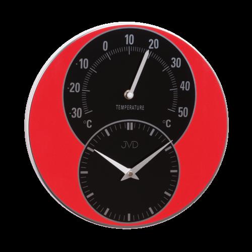 Nástěnné hodiny s teploměrem JVD HW35.1