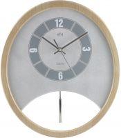 Dřevěné moderní kyvadlové hodiny kulatého tvaru E01.2516