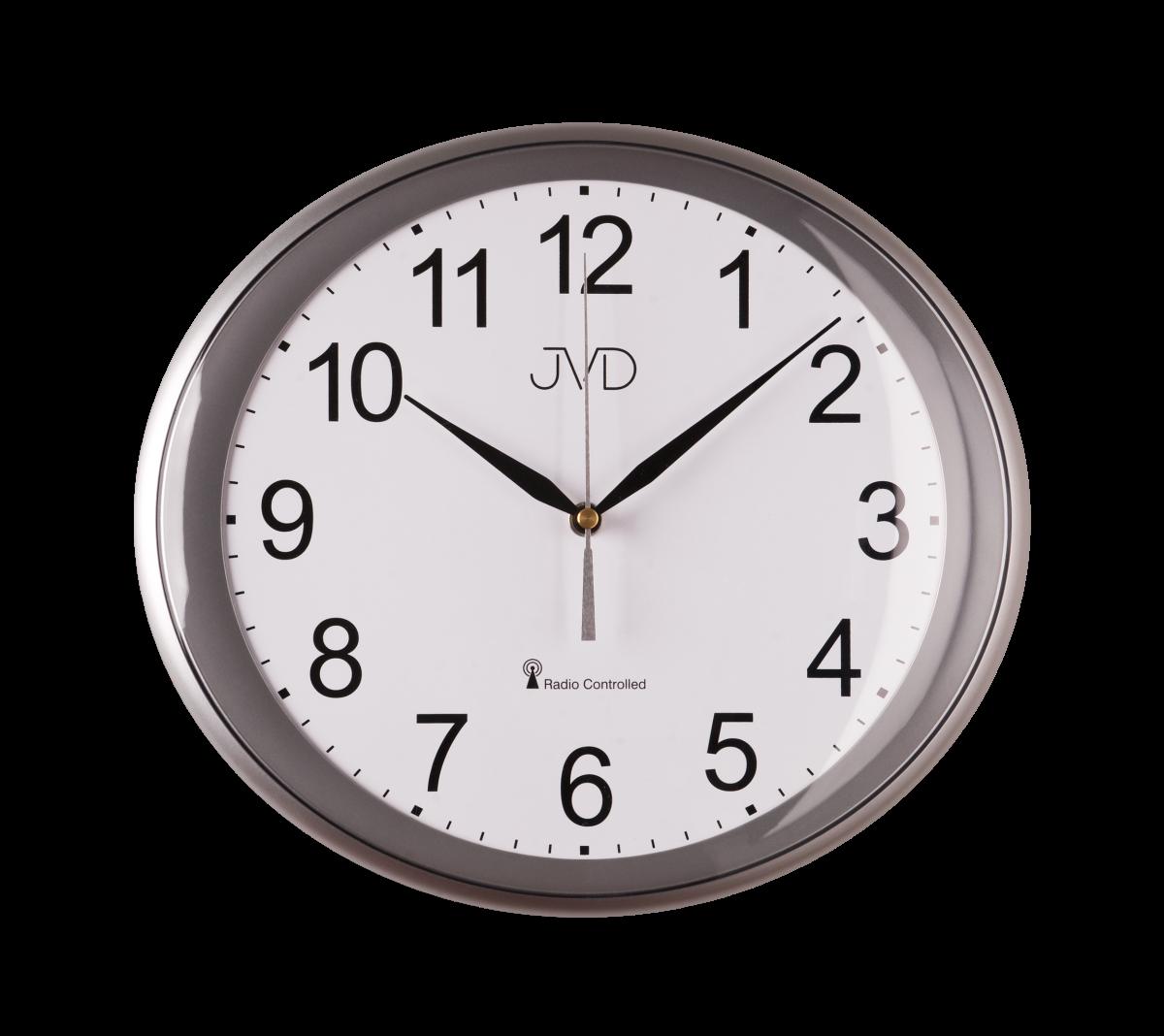 JVD Rádiem řízené nástěnné hodiny, hodiny na zeď RH 64.3.3
