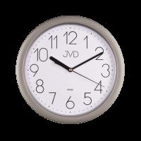 Nástěnné hodiny JVD HP612.7 kulaté hodiny stříbrná