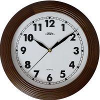 Klasické dřevěné hodiny PRIM s arabskými číslicemi..01692