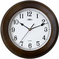 Klasické dřevěné hodiny PRIM s arabskými číslicemi..01691