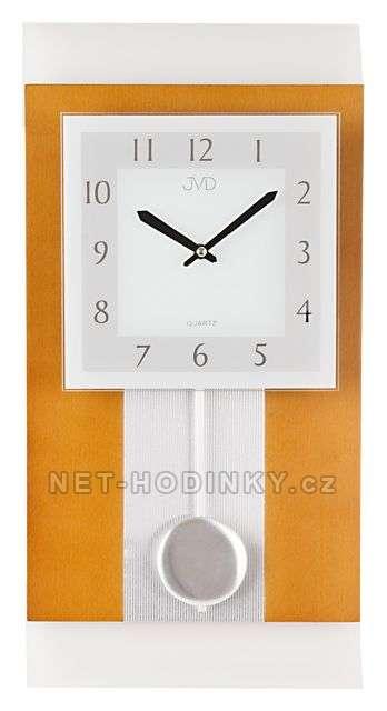 JVD Nástěnné hodiny na stěnu, nástěnné hodiny na zeď dřevěné, kyvadlové hodiny, pendlovky N20111/41.1
