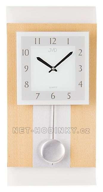 JVD Nástěnné hodiny na stěnu, nástěnné hodiny na zeď dřevěné, kyvadlové hodiny, pendlovky N20111/68.1