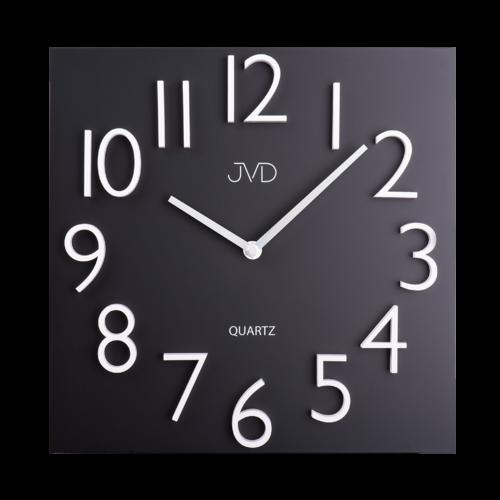 Nástěnné hodiny JVD HB16, čtvercové hodiny černá