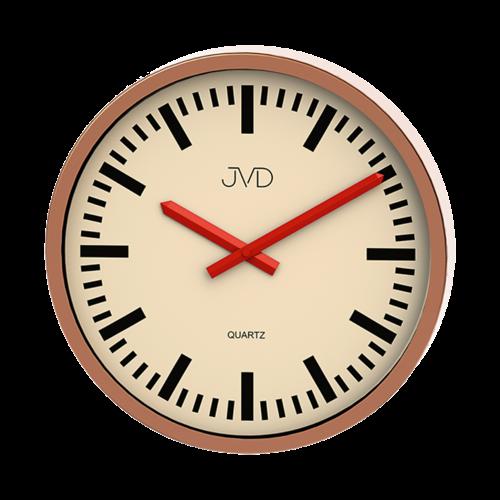 Moderní kulaté nástěnné hodiny JVD quartz H306.2