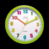 Nástěnné hodiny JVD sweep HA46.4  zelená