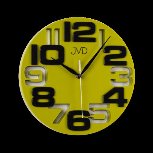 Originální nástěnné hodiny značky JVD, vhodné jako dárek.