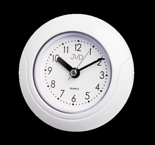 Saunové hodiny JVD basic SH33.1 kulaté bílé hodiny např.do kuchyně, k bazénu