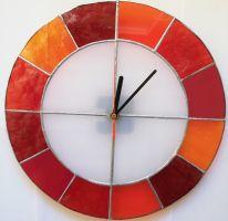 Skleněné hodiny - vitráž