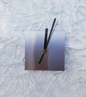 Hodiny na zeď hranaté - tavené sklo