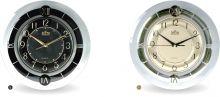Bohatě zdobené nástěnné plastové hodiny s arabskými i římskými číslicemi E01.2445