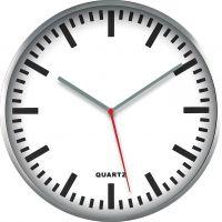 Kovové nástěnné hodiny v retro stylu s minerálním sklem E01.2483