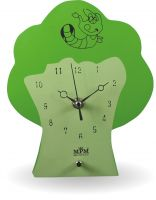 Krásné dřevěné nástěnné hodiny pro děti ve tvaru stromečku E01.2507