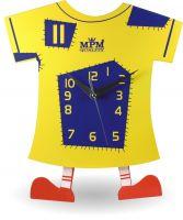Legrační dřevěné hodiny pro děti ve tvaru trička s nožičkama E01.2519