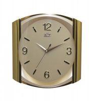 Nástěnné hodiny s kulatým ciferníkem v hranatém rámu E01.2430