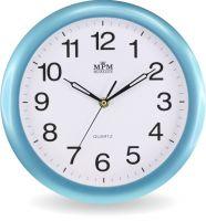 Nástěnné hodiny v různých barevných rámech v jenoduchém designu E01.2455