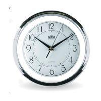 Nástěnné plastové hodiny tón v tónu s minerálním sklem E01.2446