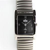 Dámské hodinky  s elegantním číselníkem v titanovém pouzdře W02M.10324
