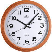 Jednoduché nástěnné hodiny v širším kulatém rámu E01.2975
