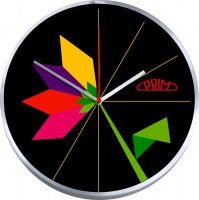 Designové, kovové hodiny Prim