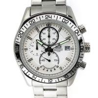 Pánské hodinky s chronografem, datem a bílým ciferníkem W01M.10425