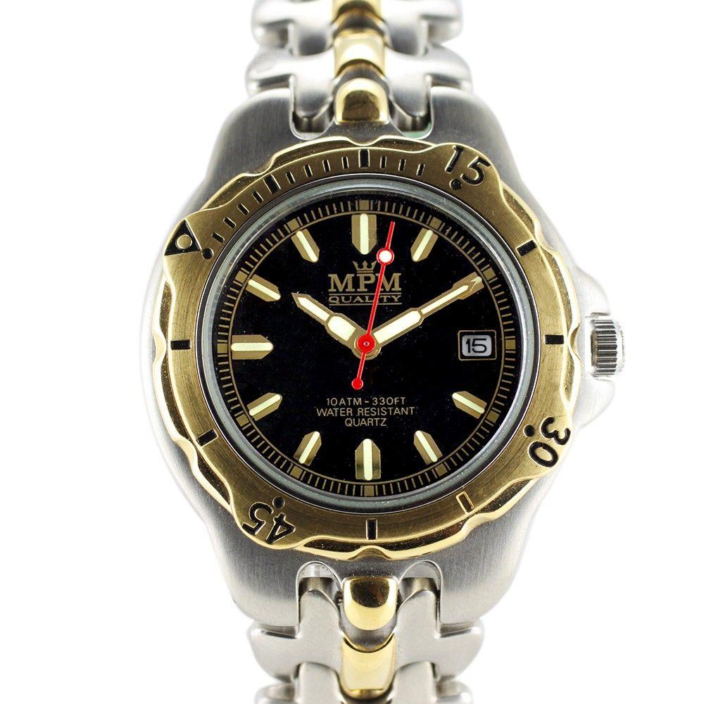 Sportovní hodinky s lunetou a černým ciferníkem..0293