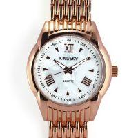 Zlaté elegantní hodinky s perletí v číselníku W03J.10529