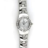 Dámské quartz hodinky s černým číselníkem, zdobené broušenými kamínky W02Q.10720