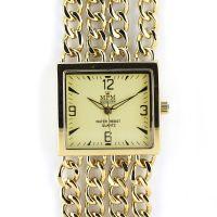 Dámské společenské hodinky na řemínku z řetízků W02M.10597