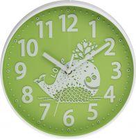 Decentní nástěnné hodiny pro děti s velrybou v zelené i modré barvě E01.3229