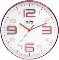 Designové nástěnné hodiny s elegantním ciferníkem. Hodiny v II. jakosti (lehké oděrky/loupání na lesklém povrhu - nelze vidět na zdi) E01.3221