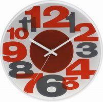 Plastové nástěnné hodiny s čitelnými barevnými číslicemi E01.3233