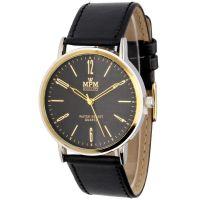 Klasické hodinky s koženým řemínkem W03M.11023