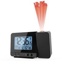 Plastové stolní hodiny s projektorem řízené rádiem. Možnost dokoupení napájecího adaptéru (Adapter for C02.3535)..0548