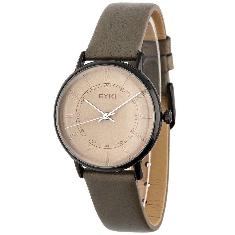 Stylové dámské hodinky s koženým řemínkem v hnědém provedení..0594