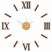 Nový originální design nástěnných nalepovacích hodin. Plně tvarované číslice a indexy v luxusní stříbrné barvě.Hodiny mají plynulý chod E01.3770
