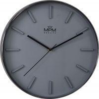 Moderní a trendy nástěnné hodiny v šedém provedení. Plastové hodiny s 3D indexy..01419