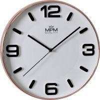 Moderní hodinyMPM Rose Modern. Čitelný bílý ciferník s výraznými indexy a čísly..01525