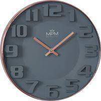 Nadčasové moderní hodinyMPM, které se hodí do každého moderního prostoru. Stylová a trendy rose gold barva do tvého bytu..01416