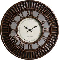 Retro nástěnné hodiny se zrcadlem a netradičně umístěnými indexy E01.3881