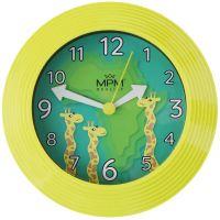 Nástěnné hodiny s dětským motivem zasazené do barevného rámu E01.2690