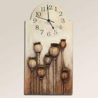 Velké keramické nástěnné hodiny makovice