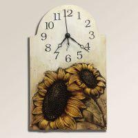 Velké keramické nástěnné hodiny Slunečnice